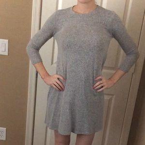 Loose fitting sweater dress